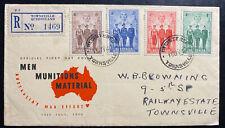 1940 Townsville Australia First Day Cover FDC Men Munitions material War Effort