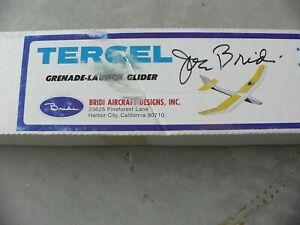 "Vintage Bridi Tercel Balsa RC Glider Kit Sailplane 50"" span"