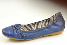 030 Berlin by Mjus AS Damen Schuhe Ballerina Leder blau metallic NEU