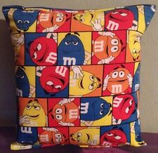 M&M Pillow M&M Candy Pillow Hershey Pillow HANDMADE in USA