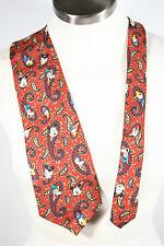 Disney Mickey Mouse Donald Duck Goofy Pluto Paisley  Silk Necktie neck tie