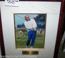Greg Norman PGA Golf Signed Autographed Photo Framed Matted JSA Certificate