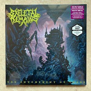 SKELETAL REMAINS The Entombment Of Chaos GATEFOLD LP BLUE VINYL + CD