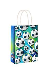 Football Party Bags x 6  Loot Bags Girls Boys Birthday Favour Children Fun