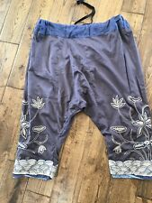 magnolia pearl Hand Embroidered SILK bloomers OS trousers pants Joon Pongee