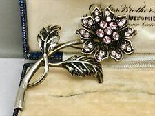Lovely Amethyst Crystal Flower Brooch