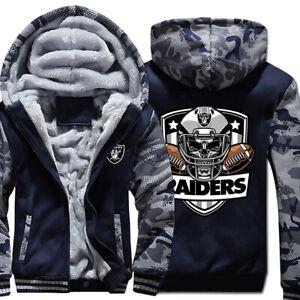 OAKLAND RAIDERS LAS VEGAS RAIDERS Hoodie Hooded Fleece Jacket S-4XL Football