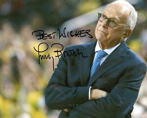 Larry Brown Detroit Pistons Coach Hofer Signed Autographed 8x10 Photo COA