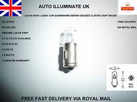 LUCAS BA7S 281 MCC CAR DASH PANEL GAUGES CLOCKS SPEEDO LIGHT BULBS LAMP 12V 2W