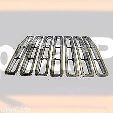 RT26030-Grille Insert Set/7 Piece Chrome Plastic Inserts/1987-1995 YJ Wrangler
