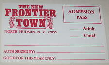 1980's Frontier Town Unused Admission Seasonal Pass