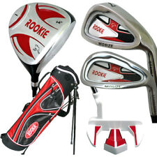 JUNIOR RH GOLF SET NEW RED 5 PCE for KIDS 10yrs plus WITH MATCHING GOLF BAG