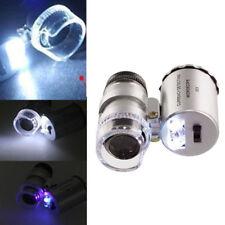 60x Handheld Mini Pocket Microscope Loupe Jeweler Magnifier LED Light Novelty