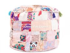 Hippy Handmade Banjara Floor Pouf Footstool Vintage Ottoman Pouf Cover Pouffe