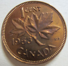 1953 Canada Small Cent Coin. UNC. RED NICE GRADE (C328)
