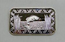 Bass Fish - 1 oz. .999 Silver Art Bar - World Wide Mint - Greathouse Reverse