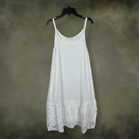 Boho Women White Lace Layering Tunic Tank Top Plus Size Extender Slip 1X 2X 3X