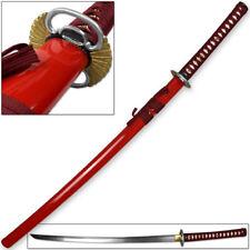 Kenpo Full Tang Blood Lust Katana 1045 HC Steel Japanese Samurai Sword Functiona