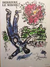 Marc Chagall Vintage Poster, Derrière Le Mirror, Offs. Litho 1966.Unsigned
