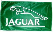 Jaguar green landscape nylon flag 1500mm x 740mm (of)