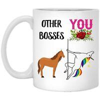 Funny Boss Lady Gifts For Women Sarcastic Unicorn Coffee Mug Ceramic Cup 11oz