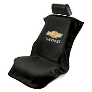 1- Seat Armour Seat Protector Cover/towel w/ Chevy Bowtie Logo - Fits Most Front