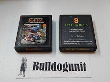 Game Lot of 2 Indy 500 & Night Driver Tele-Games 8 Atari 2600 Games