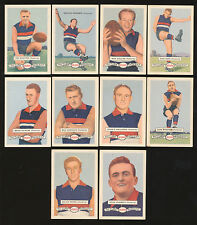 1958 Atlantic Petrol Footscray Team Set 10 Cards Picture Pageant Card Whitten