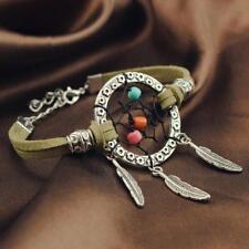 Vintage Women Girl Bracelet Dream Catcher Alloy Feathers Beads Bracelets Jewelry