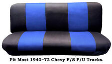 Mesh Black/Blue This Seat Cover Fit Most 1940~72 Chevy Full size Trucks Models