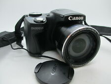 Canon Powershot SX500 IS Black Digital Camera Set 16 MegaPixels Zoom Lens 30x IS
