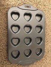 Norpro Heart-Shaped Cups -12-in-1 Mini Muffin Brownie Cup Cakes Non-Stick Baking