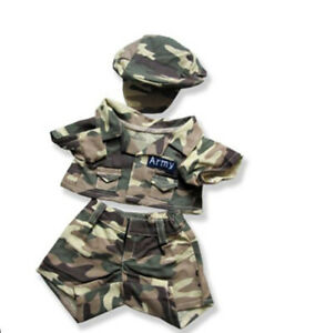 Adorable Camo Army Outfit Fits Most 8 to 10 inch Build A Bear and Make Your Own