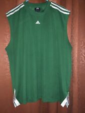 Mens Adidas Tank Green Size Xl Preowned