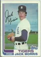 1982 Topps #450 Jack Morris Detroit Tigers HOF Baseball Card EX