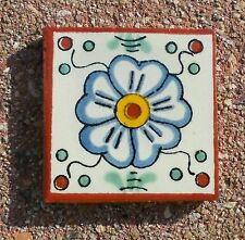 "20~MEXICAN TALAVERA POTTERY 2"" clay hand made painted Flowers Floral Tiles Tile"