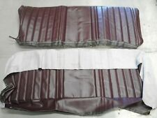 1973 - 1981 Chevy / GMC Truck Bench Vinyl Front Seat Cover w/ Pleats (Maroon)