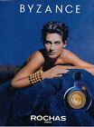 Publicité Advertising 1991 Parfum BYZANCE de ROCHAS