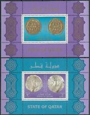 Qatar 1999 ** Bl.37/38 Alte Münzen Ancient Coins
