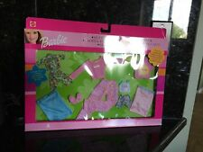 Barbie Kelly Sleepover Party Fashions, PJ Sets Pink Sleeping Bags New .