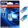 2 x Osram Cool Blue Intense W5W 501 Halogen 12V Sidelight Number Plate Car Bulbs