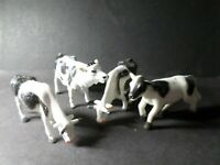 LOT 4 FIGURINE ANIMAUX, VACHE, PVC, TB, VF TOYS, occasion