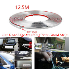 Single 12.5m Chrome 3M Adhesive Car Suv Auto Door Edge Moulding Trim Guard Strip