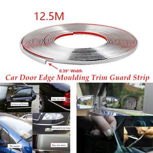 Single 12.5m Chrome 3M Adhesive Car Suv Auto Door Edge Moulding Trim Guard Strip