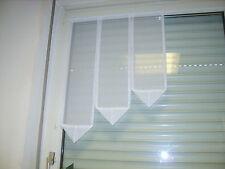 Gardine Scheibengardine Flügelfenster  48-50cm breit Weiß L: 70,60,50cm Vorhang