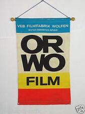 ORWO VEB Film Fabrik Wolfen Fahne Werbung DDR alte Werbung Deli Dachbodenfund