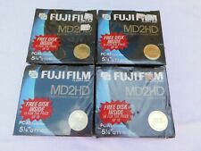 "44 Fuji Film Floppy Disk MD2D HIGH Density 5.25"" 4 SEALED PACKS OF 11 #2"