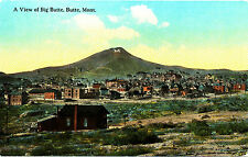 """Mt Montana Butte: """"View of Big Butte"""" Unposted Ct (Photochrom?) Divided-back"""