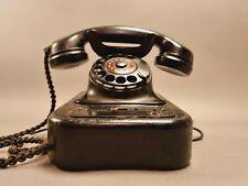 Altes Siemens Wählscheiben Telefon Bakelit schwarz FG tist 68 ay schönes Stück