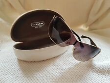Coach - Gold and Brown Sunglasses and Case